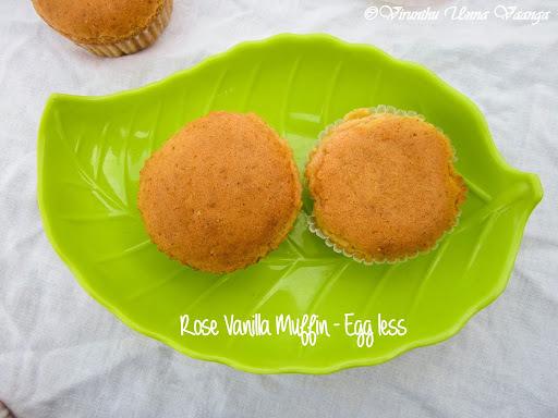 ROSE VANILLA MUFFINS - EGG FREE I EGG LESS BAKES