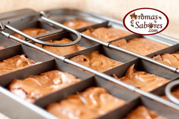 Receita de brownie de chocolate com amêndoas