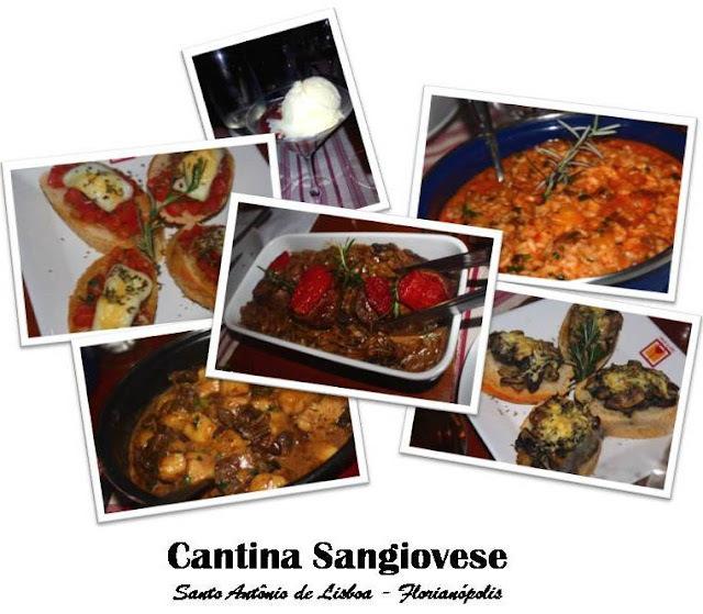 Cantina Sangiovese:  um banquete para reviver as delícias da vida