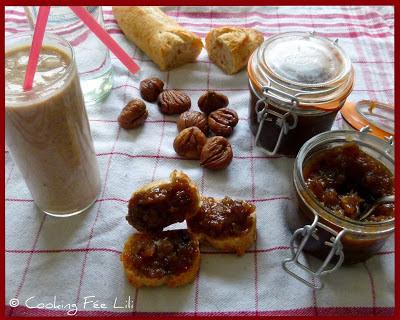 Le goûter de la Mère-grand     (confiture de châtaignes à la vanille et milk-shake magique à la châtaigne)