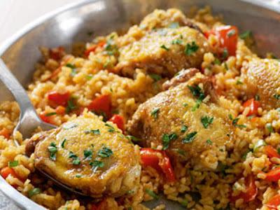 o que pode acompanhar frango com arroz