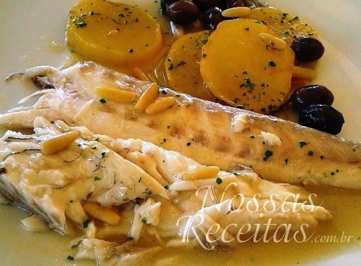Receita de filé de pescada na manteiga