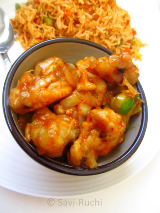 Gobi Manchurian | Cauliflower manchurian : With step by step pictures!