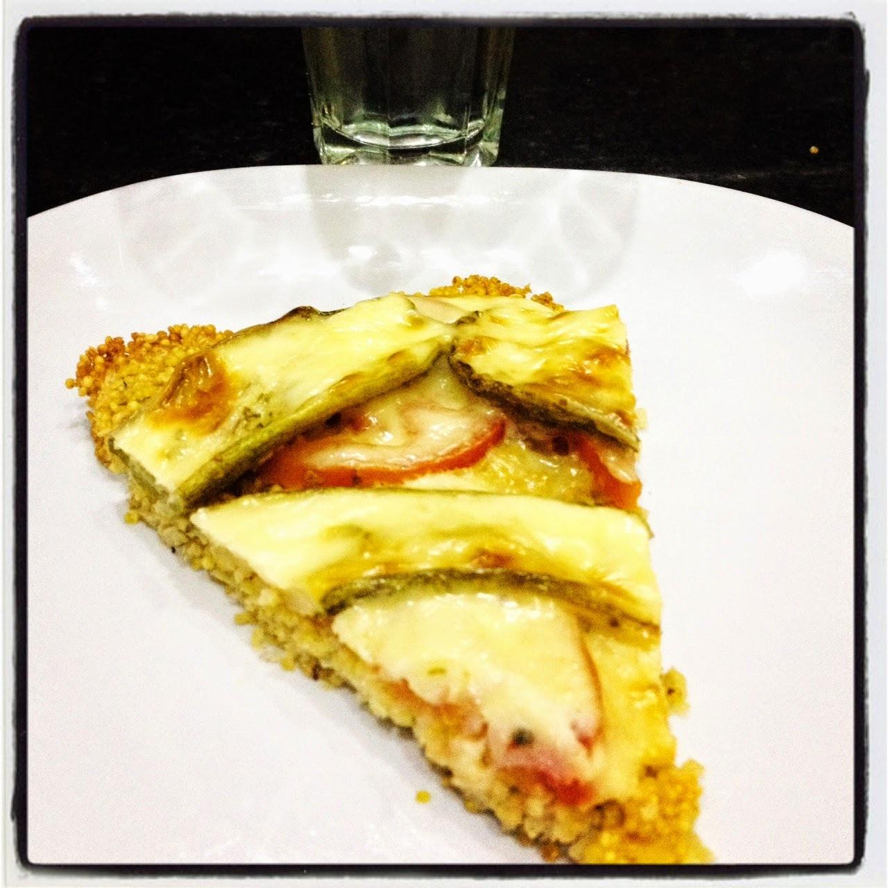 Pizza de mijo con verduras