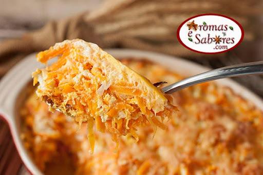 Cenoura de forno com queijo