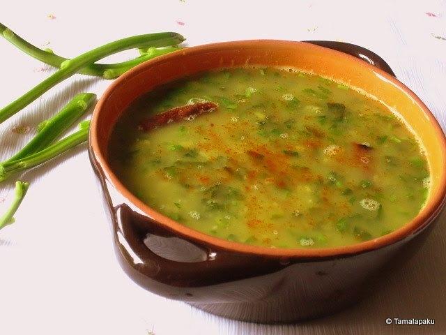Bacchali Koora Pappu ~ Malabar Spinach Dal