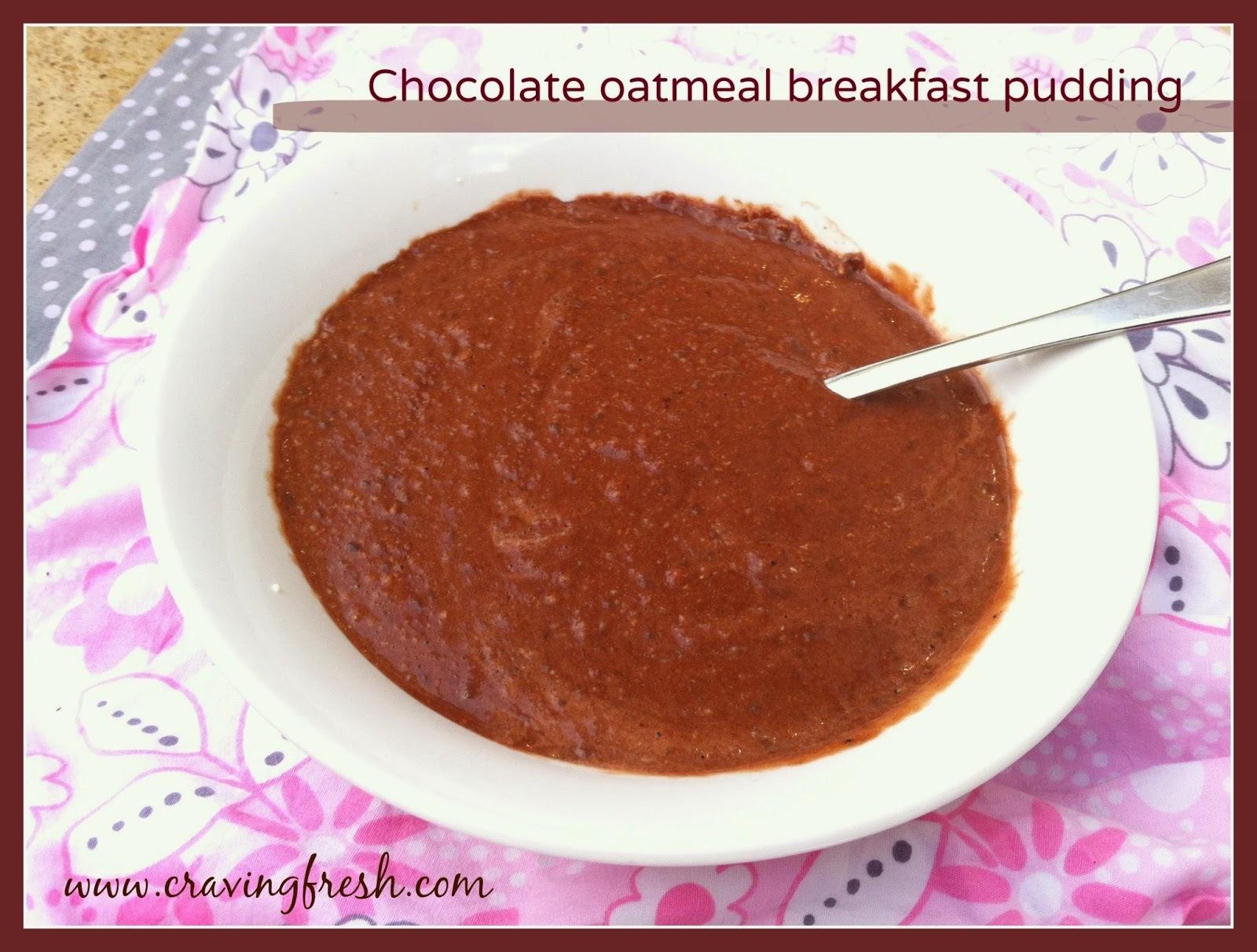 Chocolate oatmeal breakfast pudding recipe