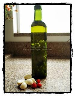 Azeite Aromatizado com Alho e Pimentas
