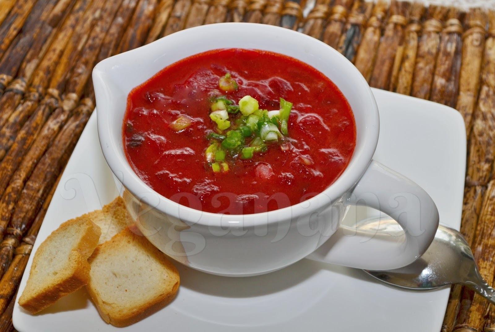 Sopa de Tomates com Beterraba