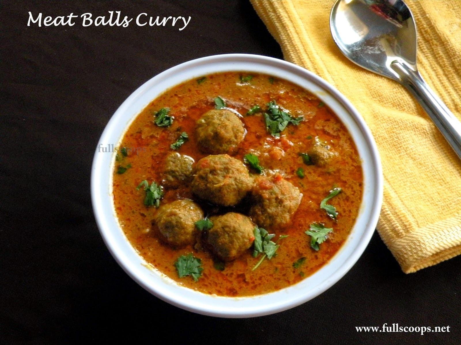 Urundai Kari Kuzhambu / Meat Balls Curry