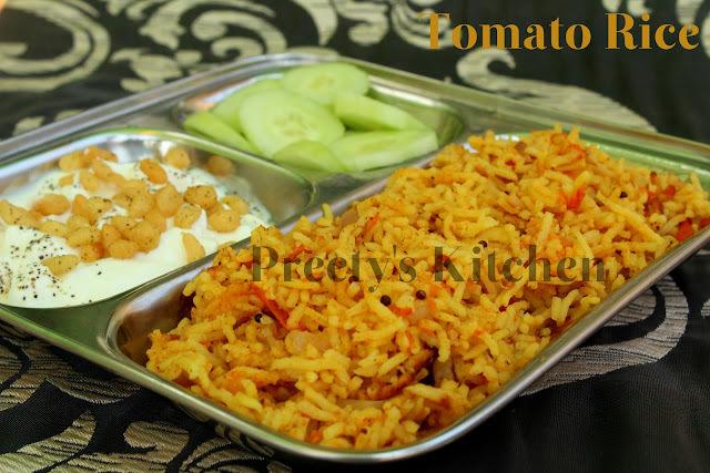 Simple Tomato Rice / Tamatar Pulao