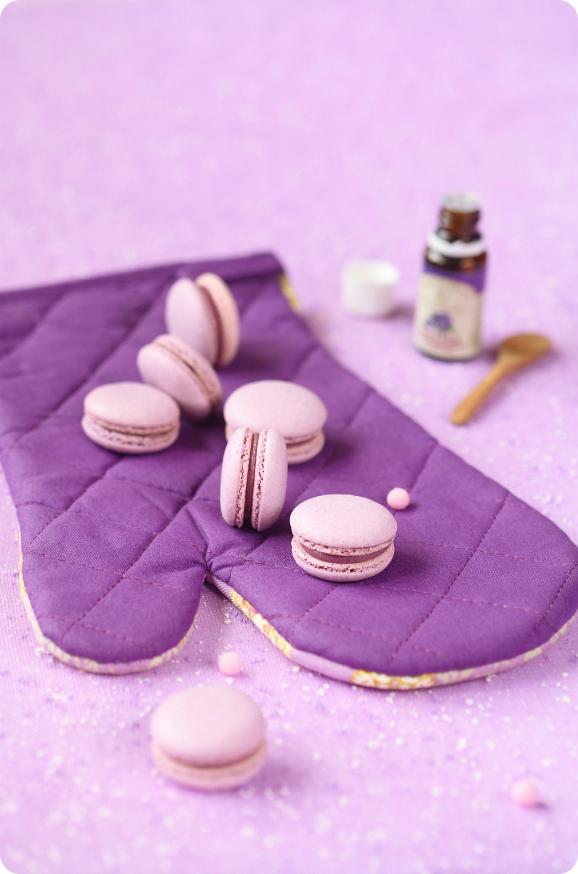 Чернично-фиалковые макаронс / Macarons de mirtilo e violeta