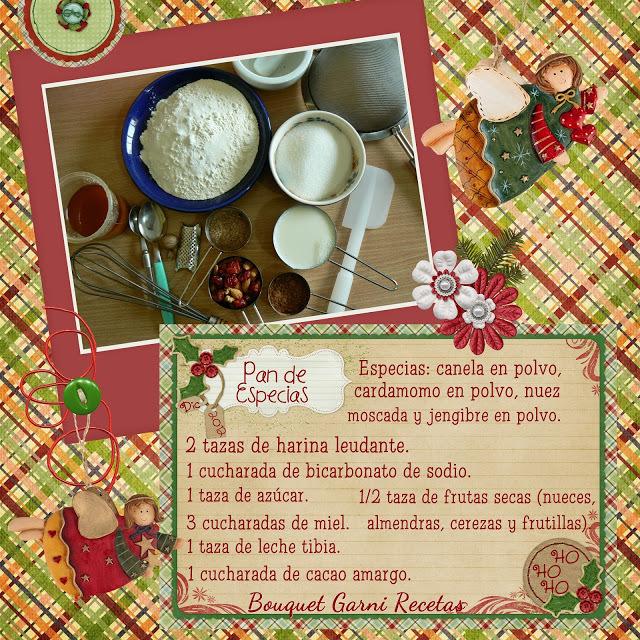 Receta de Navidad. Pan de especias.