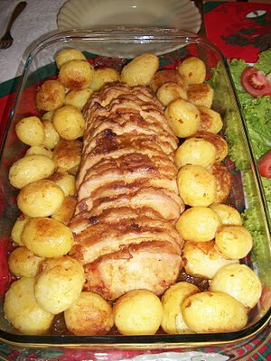 Lombo com batatas