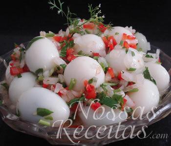 vinagrete de ovo de codorna