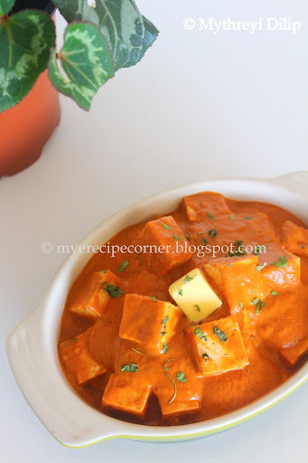 Paneer Butter Masala - Restaurant Style - Step by step instructions.