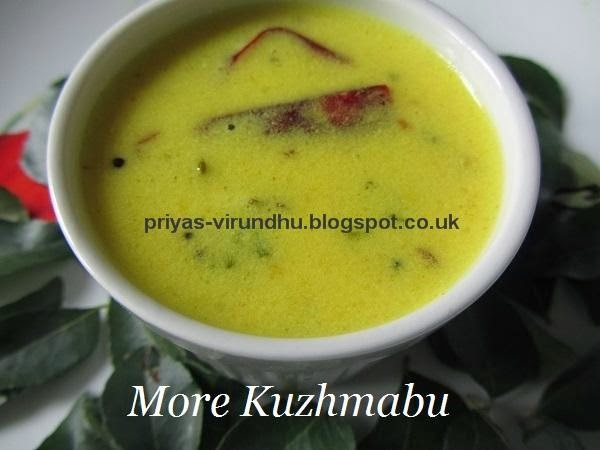 More Kuzhambu/Mor Kuzhambu [Without Vegetables]