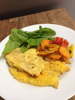 file de peixe empanado crocante no forno