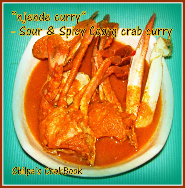 """njende curry"" - Sour & Spicy Coorg Crab curry"