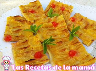 Receta de Tarta de manzana de hojaldre y crema pastelera
