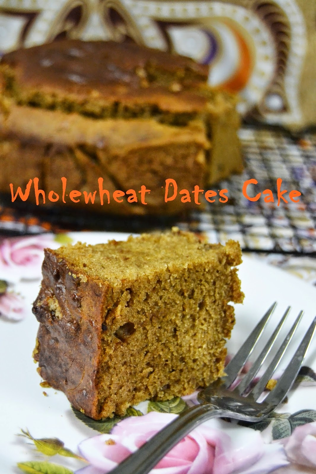 Wholewheat Dates Cake