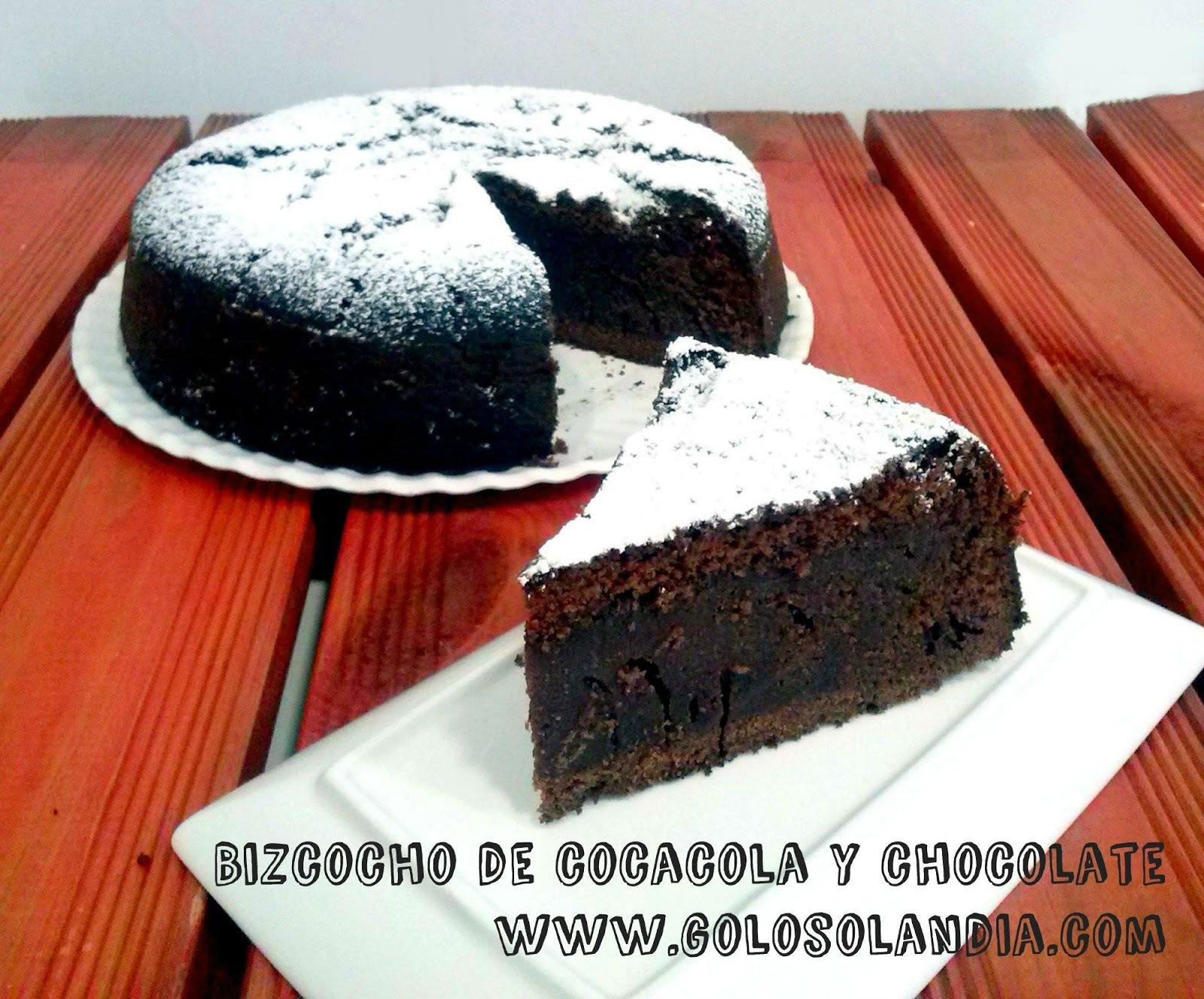 Bizcocho de cocacola y chocolate