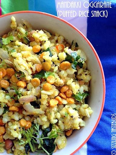 Mandakki Oggarane | ಮಂಡಕ್ಕಿ ಒಗ್ಗರಣೆ | Puffed rice snack from Karnataka
