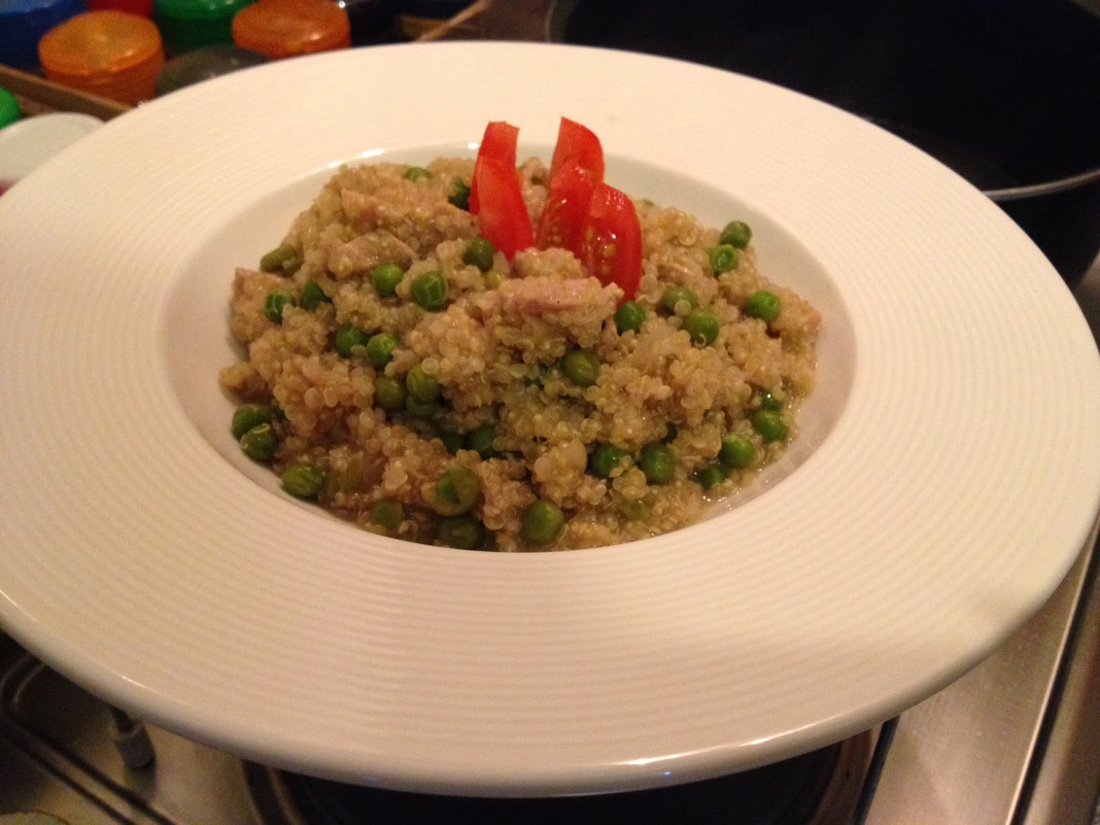Rizoto z quinoi s tuniakom