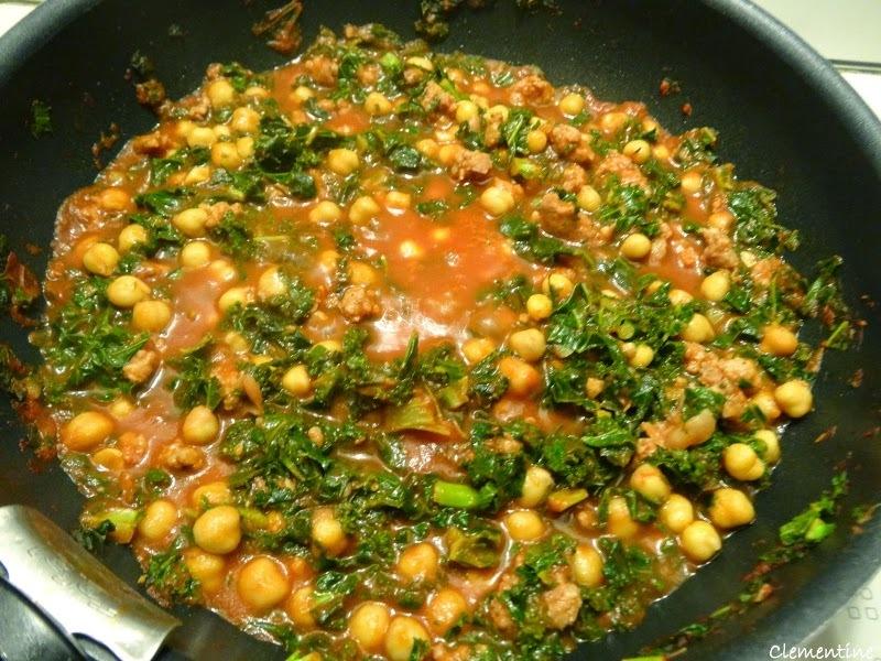 Chou Kale avec chair à saucisse