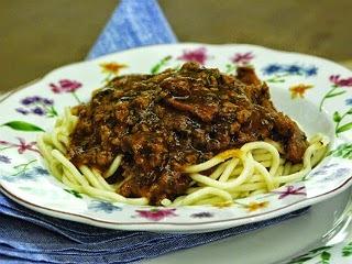Espaguete ao Molho Bolonhesa com calabresa do Rolando Massinha