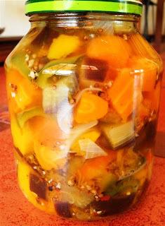 Verduras en vinagre
