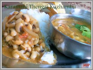 Karamani Thengai Kuzhambu | Cowpeas Coconut gravy