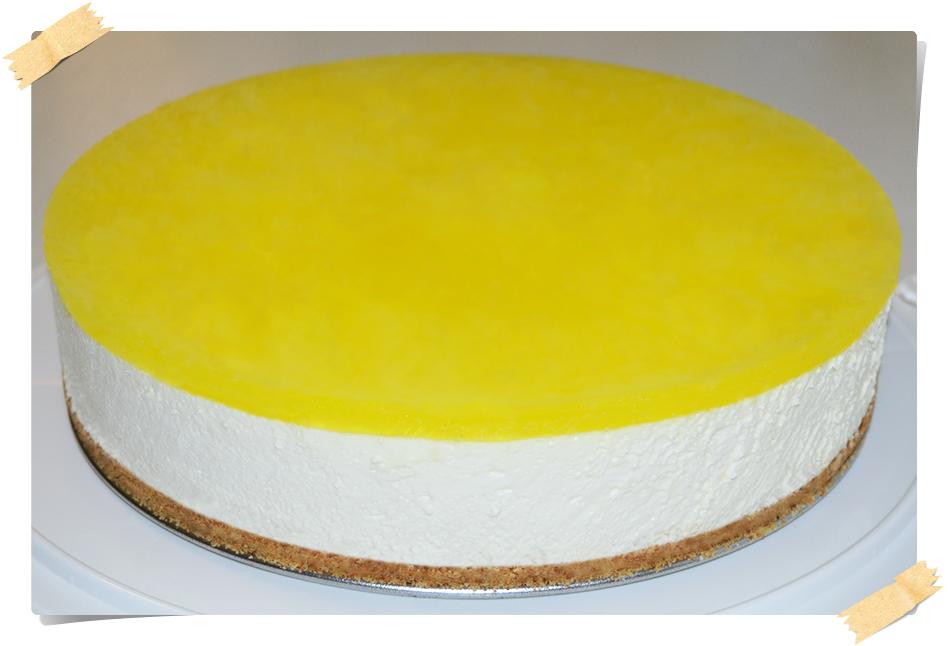 de cheesecake con gelatina sin sabor