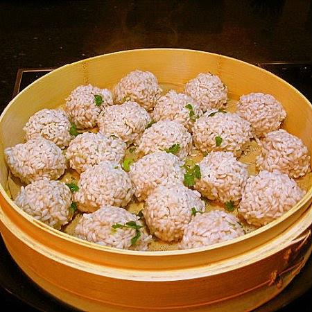 Chinese Steamed Pearl Balls - Zhenzhu Qiu