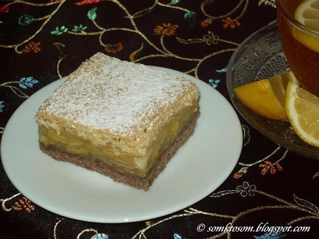 Jablkový koláč - dvojfarebný
