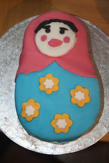 Russian Doll Matryoshka Birthday Cake