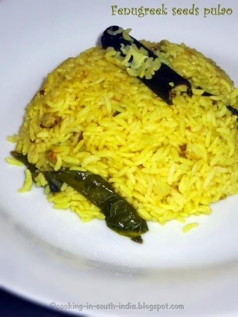 Fenugreek seeds pulao Rice recipe | Vendhaya Sadam