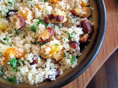 Couscous,  Hazelnut, Cranberry and Apricot Salad