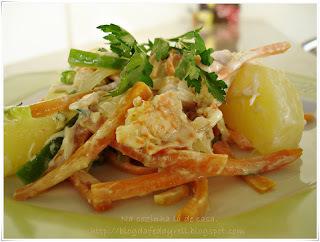 de salada de lagosta com batata