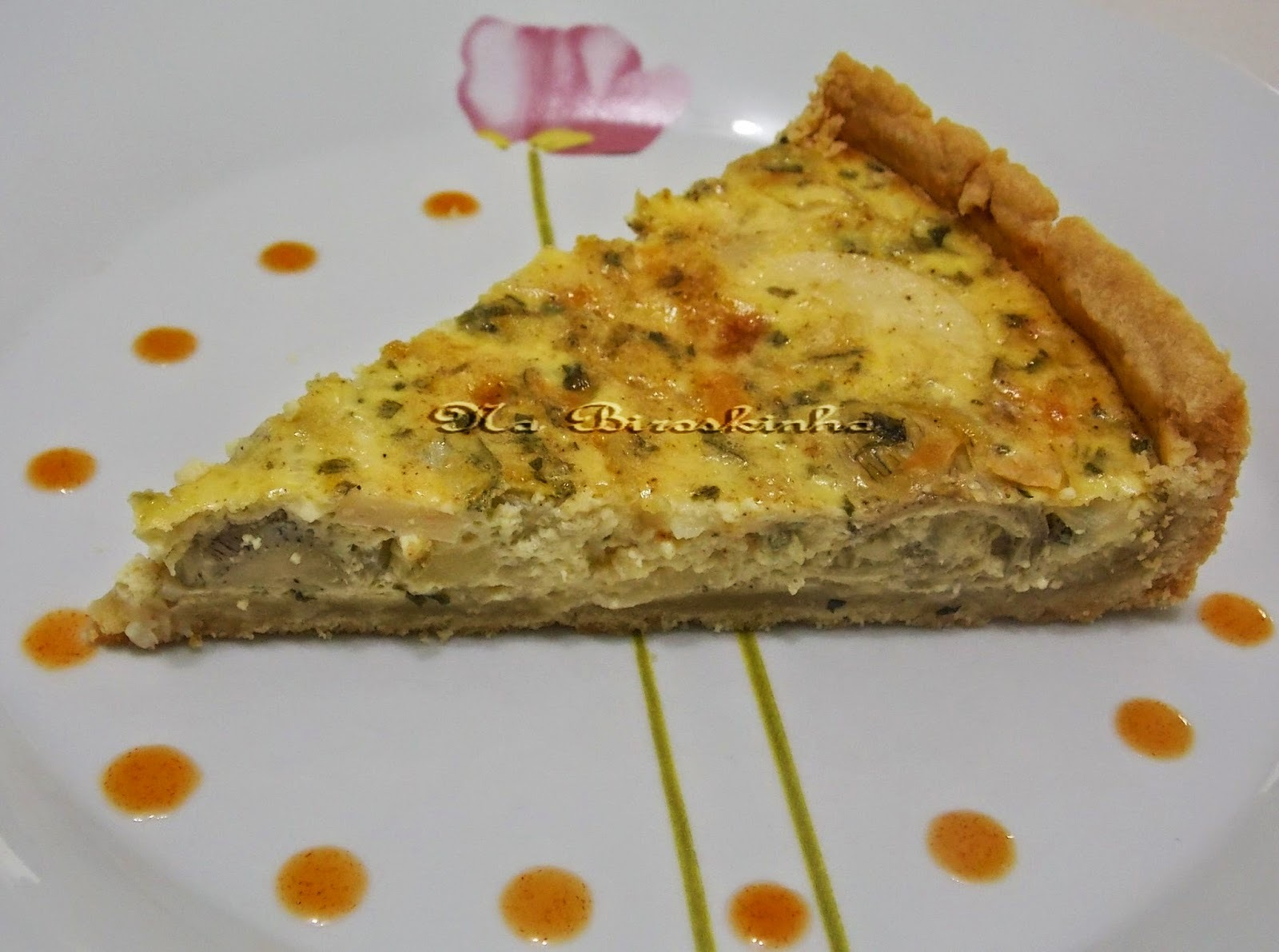 quiche light de palmito