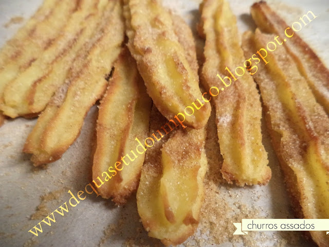 massa churros assar