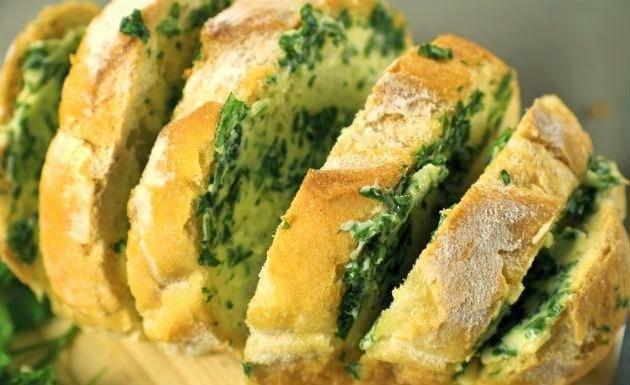 recheio pão com alho para churrasco com bom sabor