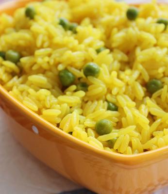 arroz de ervilhas solto
