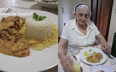 Strogonoff de Carne -  Meu último Almoço para querida Lourdinha!!!
