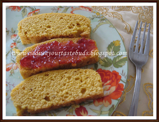 Eggless Yellow Sponge Cake
