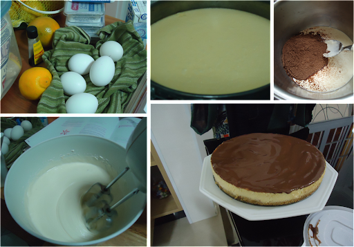 Cheesecake com Calda Chocolate