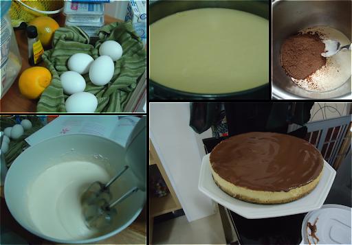 Cheesecake com Calda Chocolate