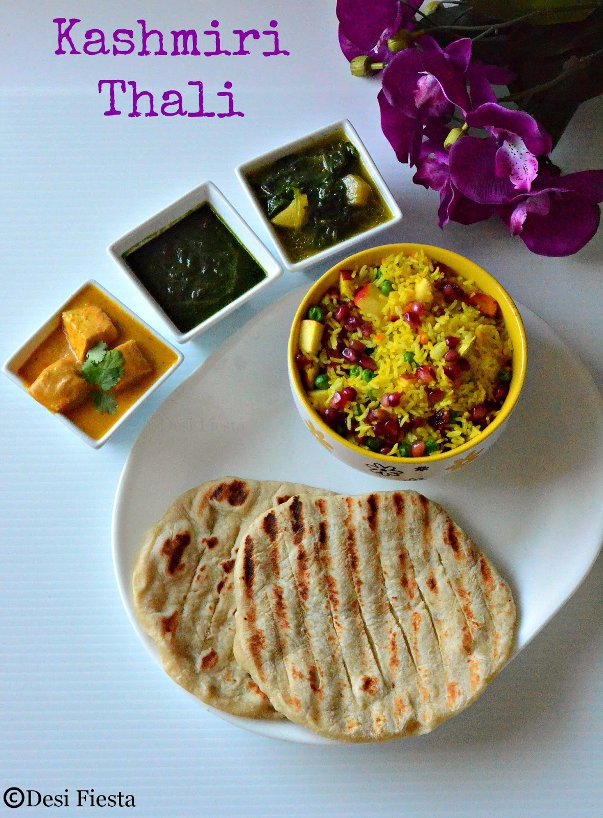 Jammu and Kashmir  Mini Thali | Simple  Kashmiri Lunch thali