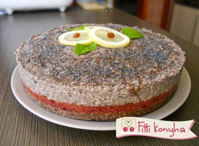 Meggyes-mákos torta (paleo, sütés nélkül)