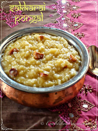Sakkarai Pongal | Sweet Pongal | South Indian Rice Sweet